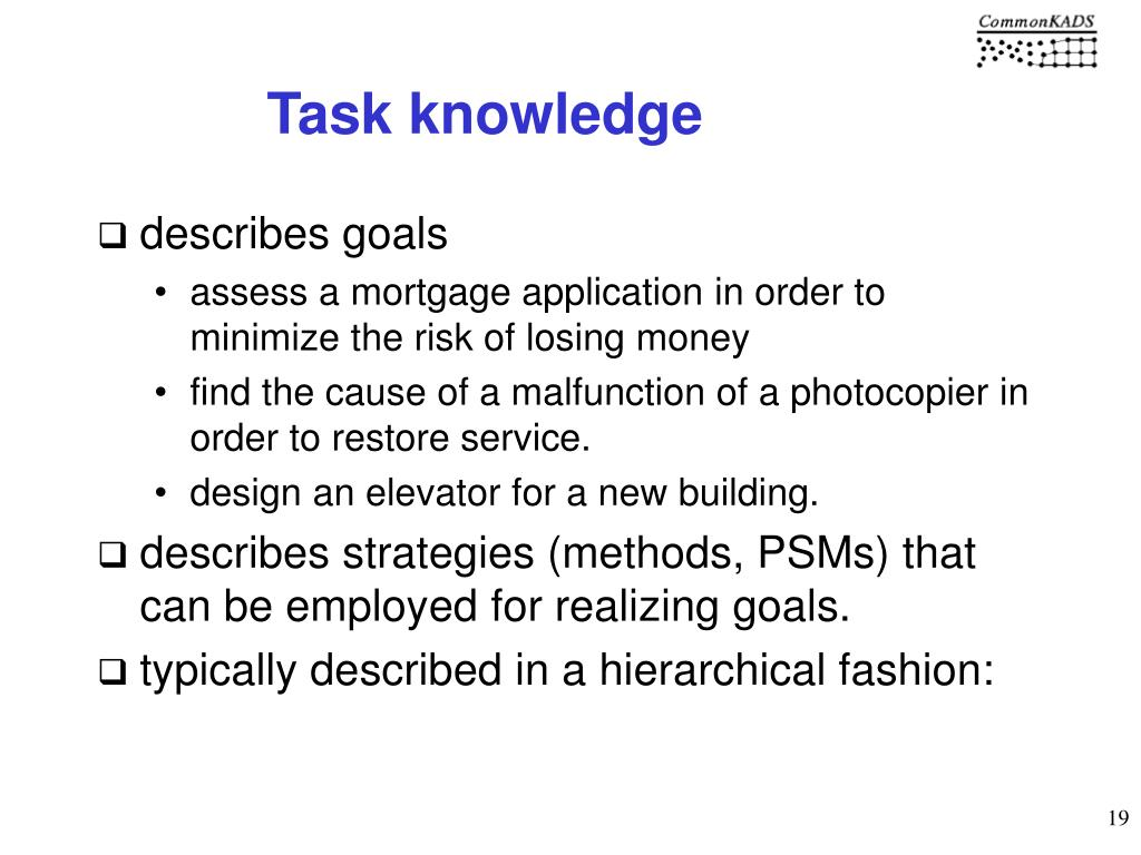 Task knowledge