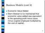 business models cont d1
