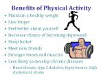 benefits of physical activity