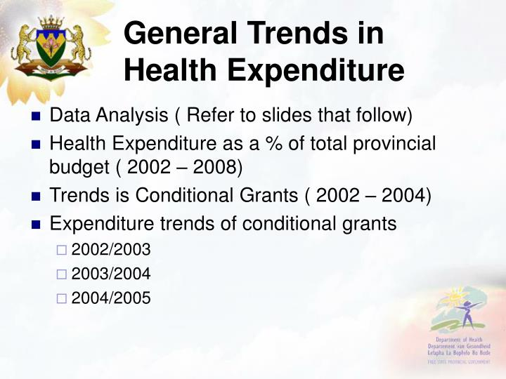 General Trends in Health Expenditure