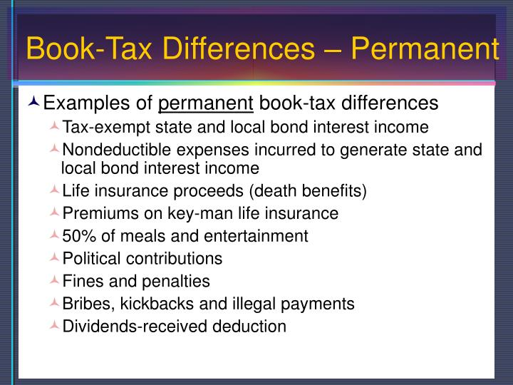 Book-Tax Differences – Permanent