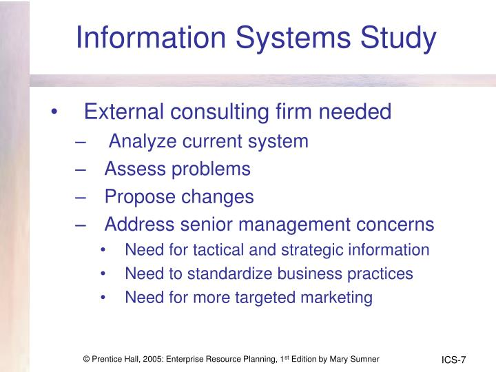 Information Systems Study