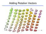 adding rotation vectors