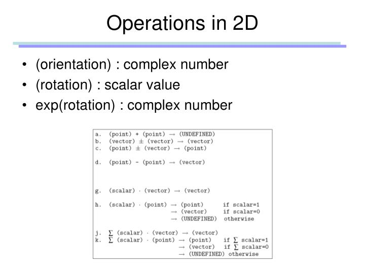 Operations in 2D