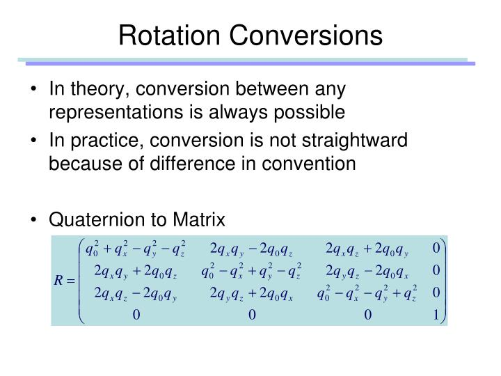 Rotation Conversions