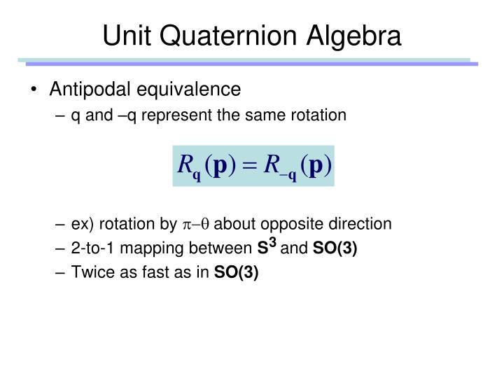 Unit Quaternion Algebra