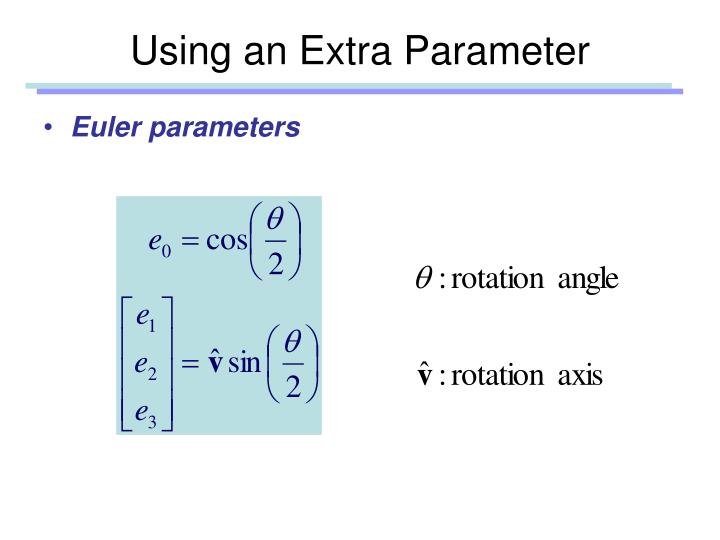 Using an Extra Parameter