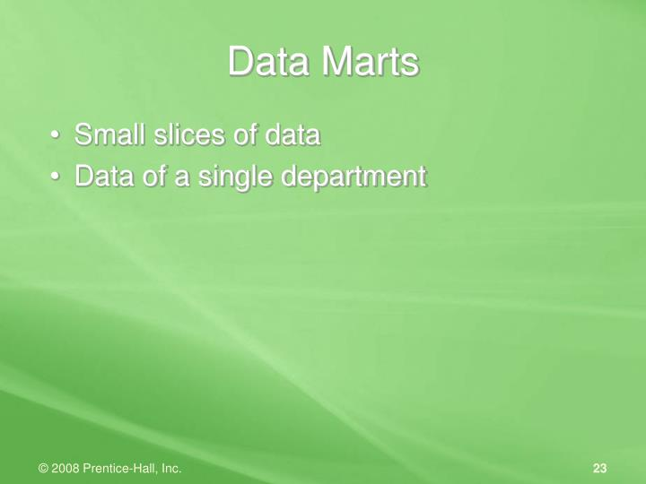 Small slices of data