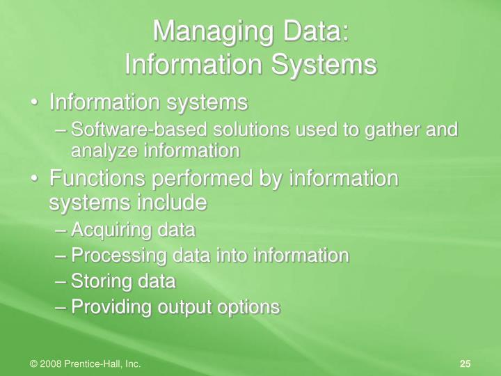 Managing Data: