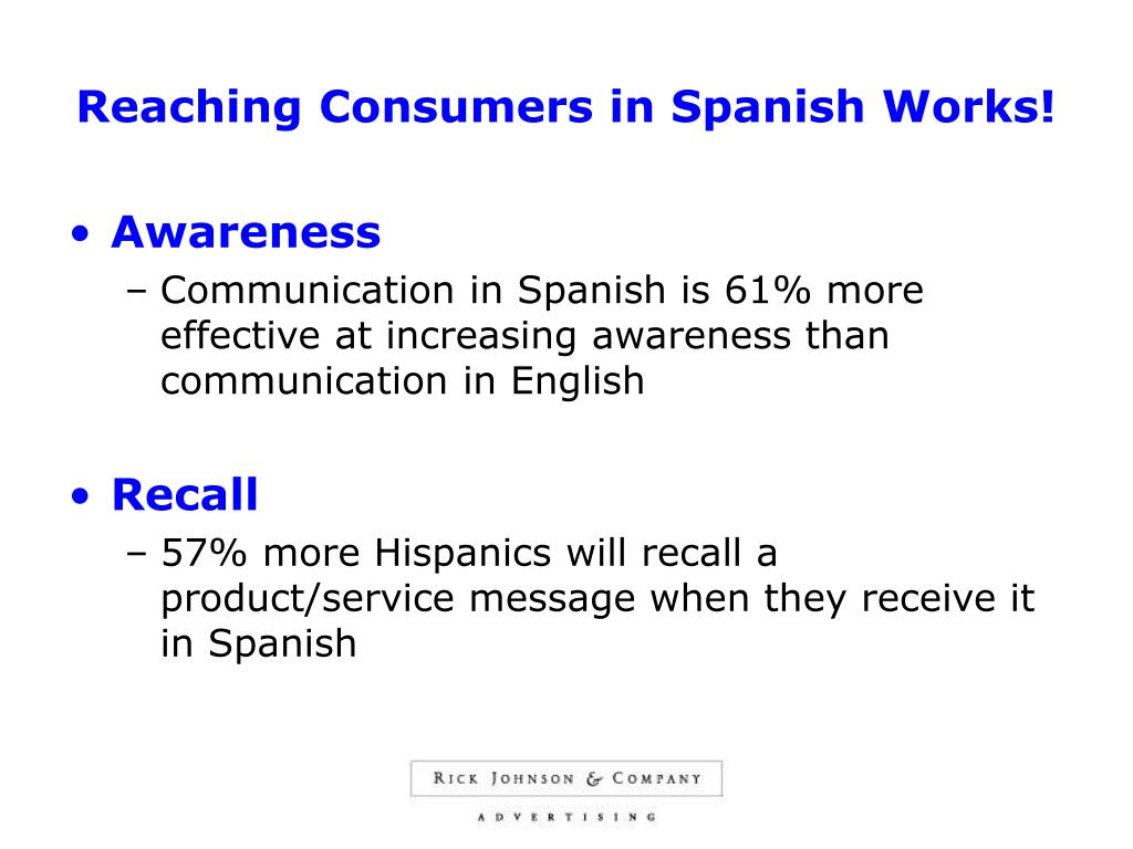 Reaching Consumers in Spanish Works!