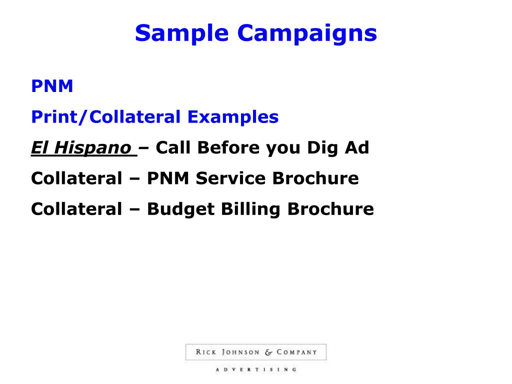 Sample Campaigns