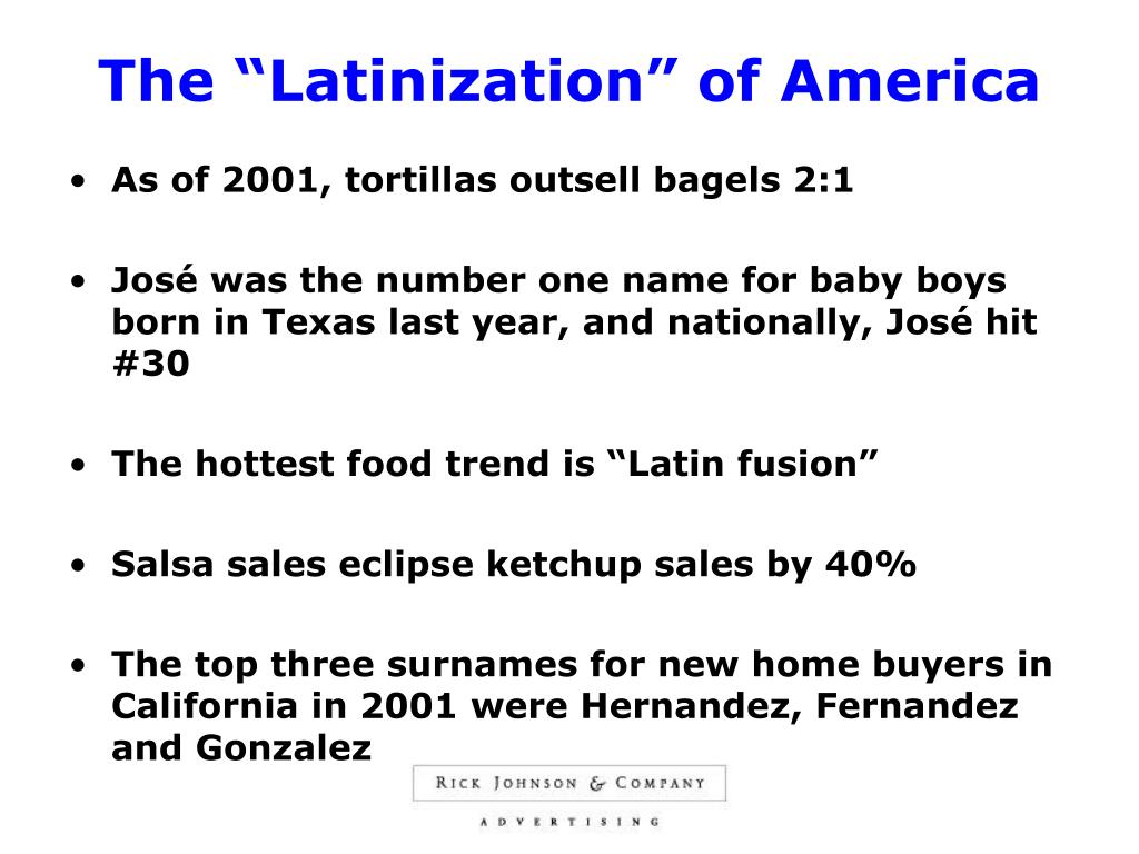 "The ""Latinization"" of America"