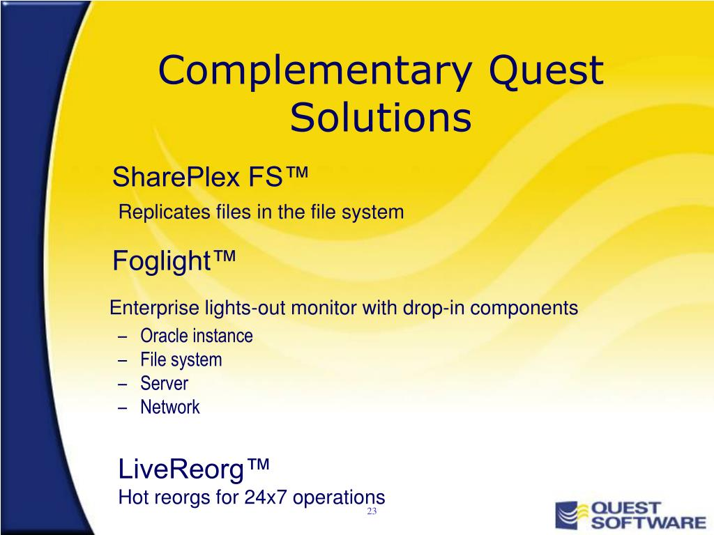 Complementary Quest Solutions