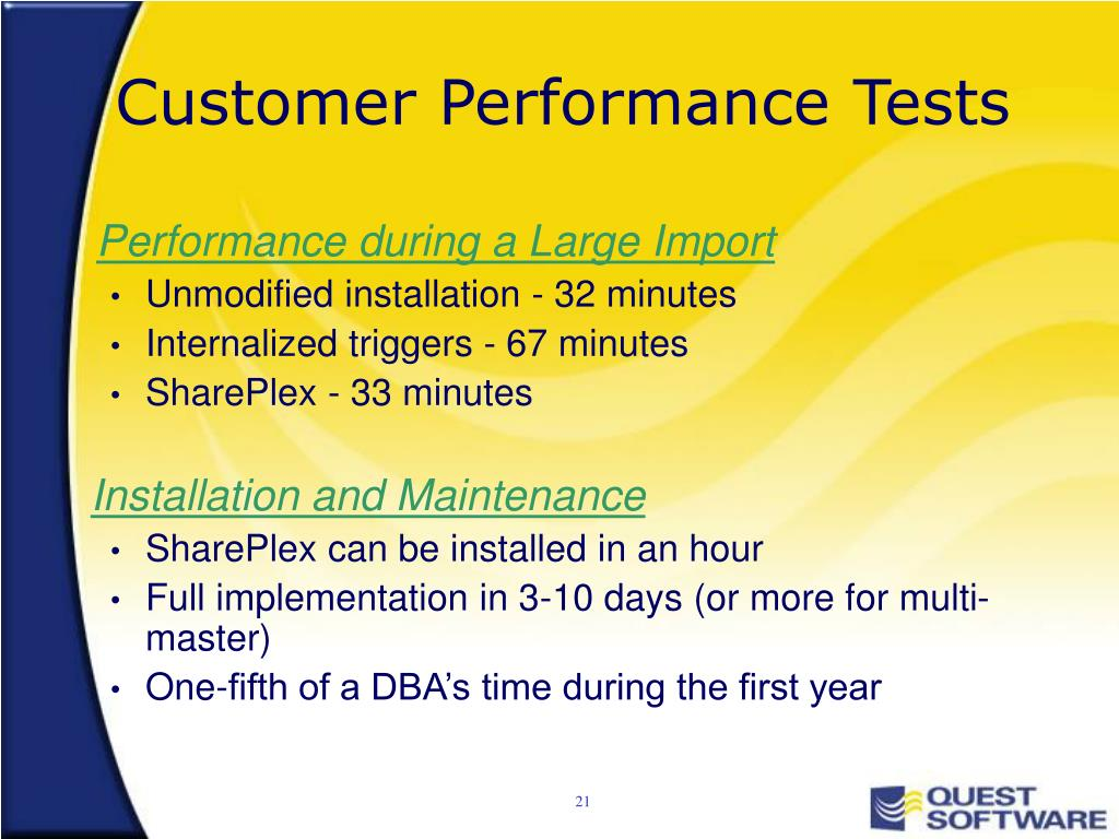 Customer Performance Tests