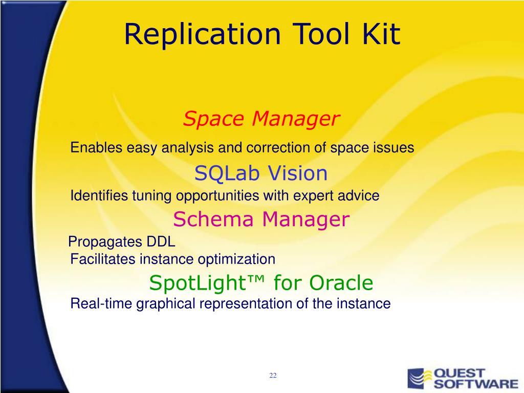 Replication Tool Kit