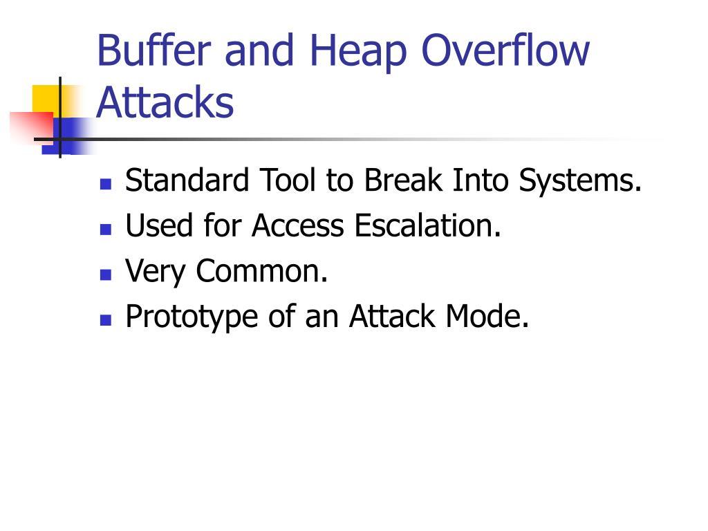Buffer and Heap Overflow Attacks