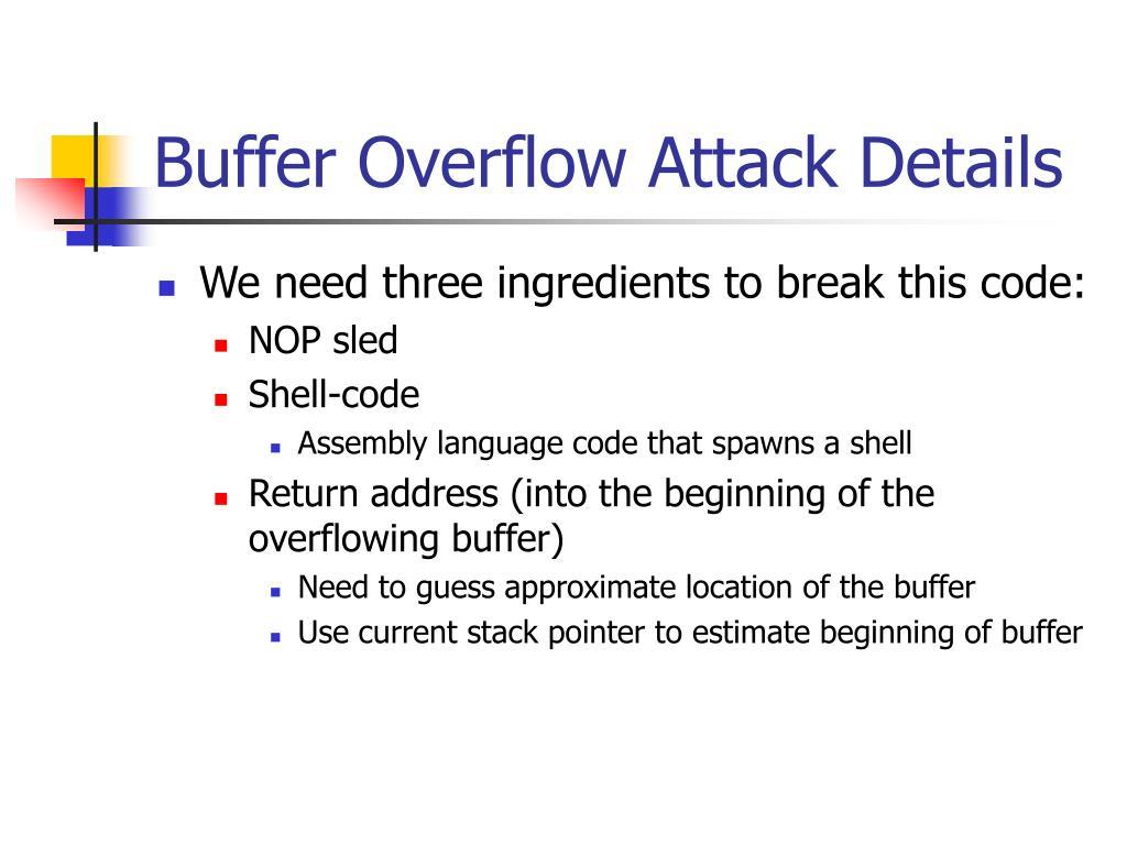 Buffer Overflow Attack Details