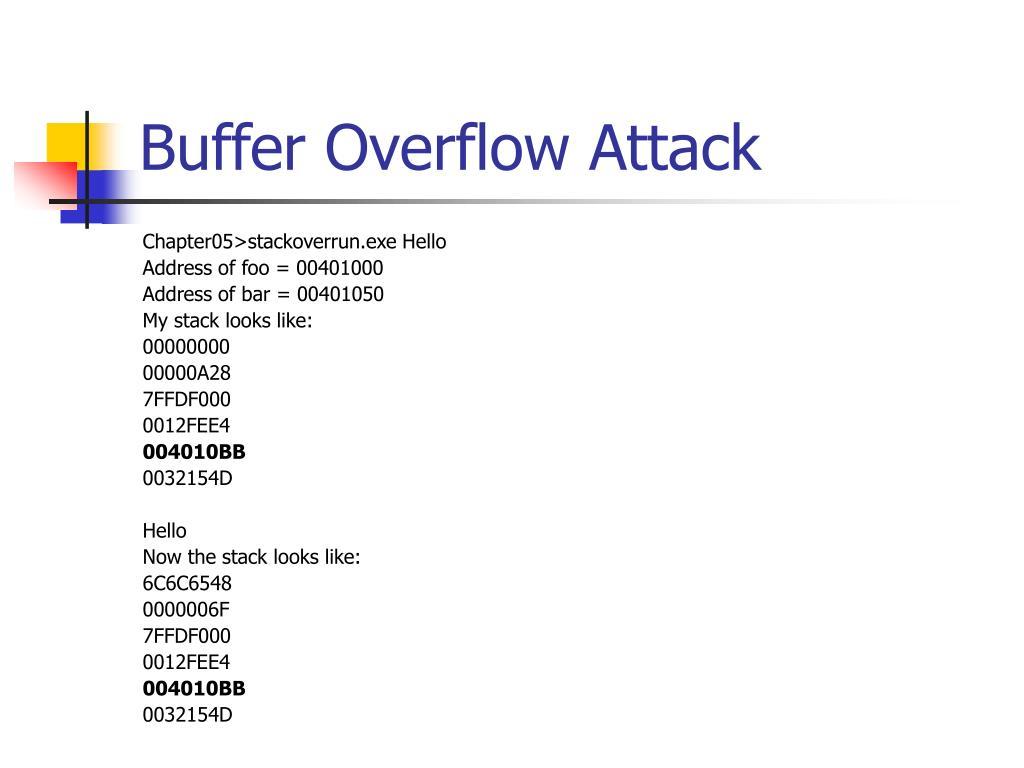 Buffer Overflow Attack