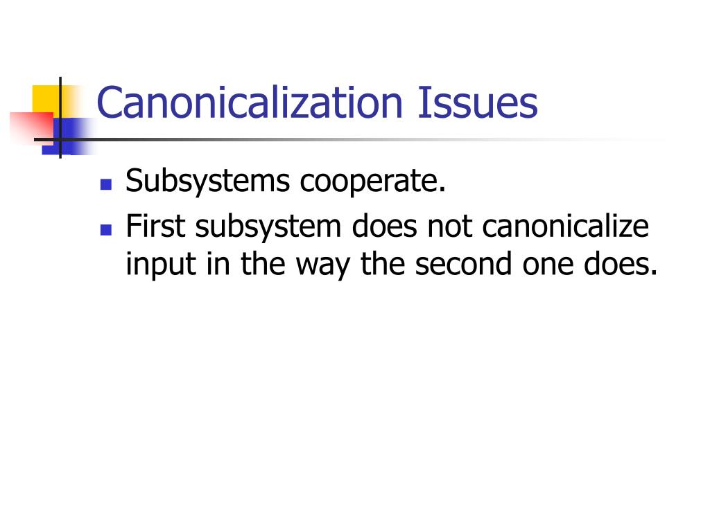 Canonicalization Issues