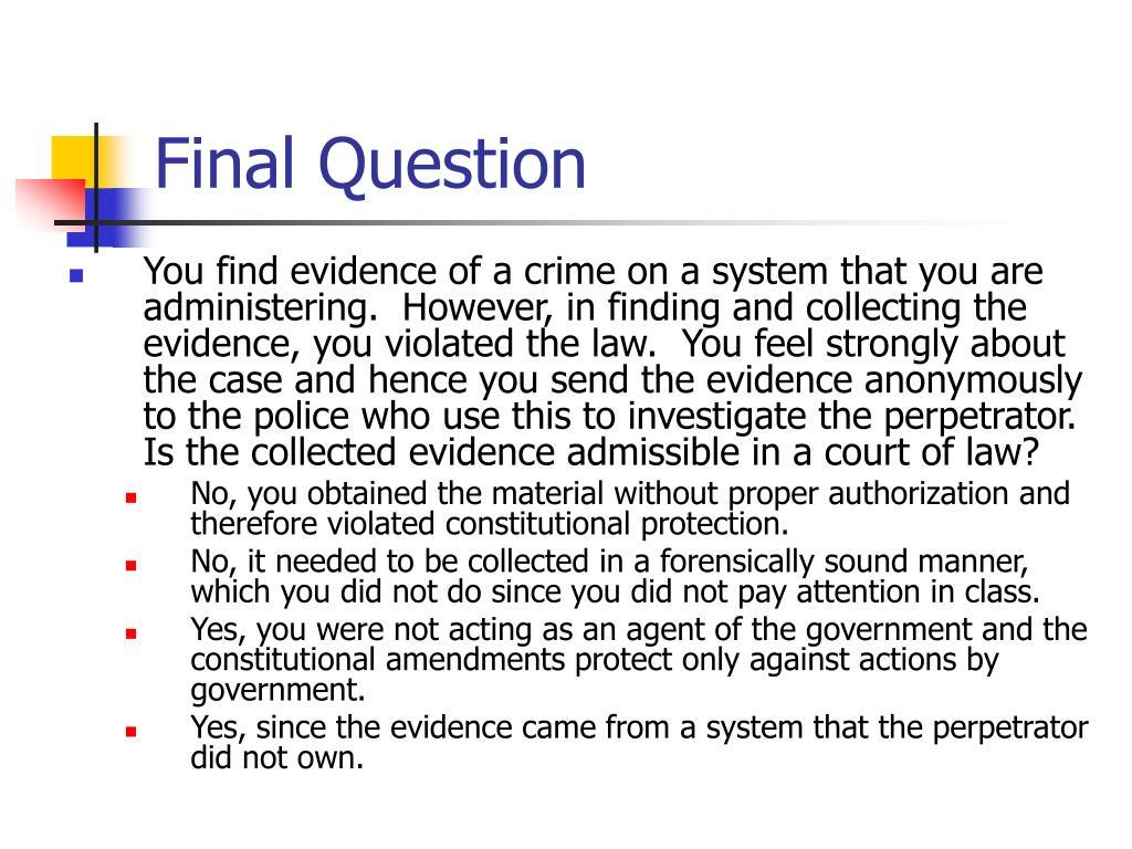 Final Question