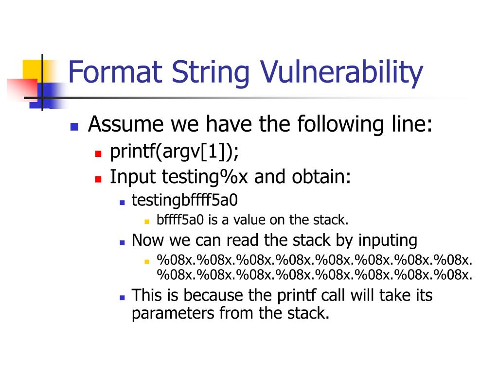 Format String Vulnerability