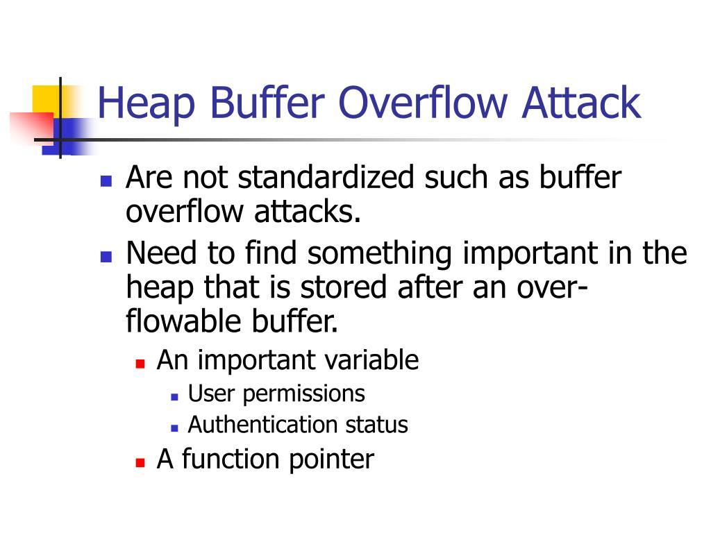 Heap Buffer Overflow Attack