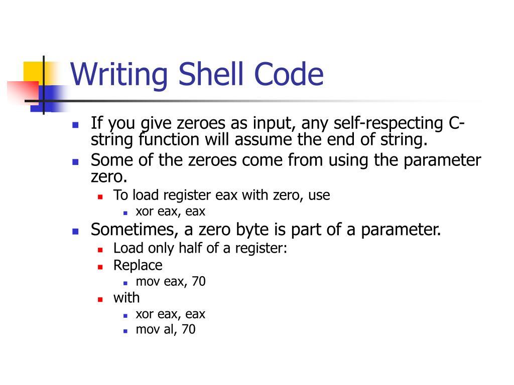 Writing Shell Code