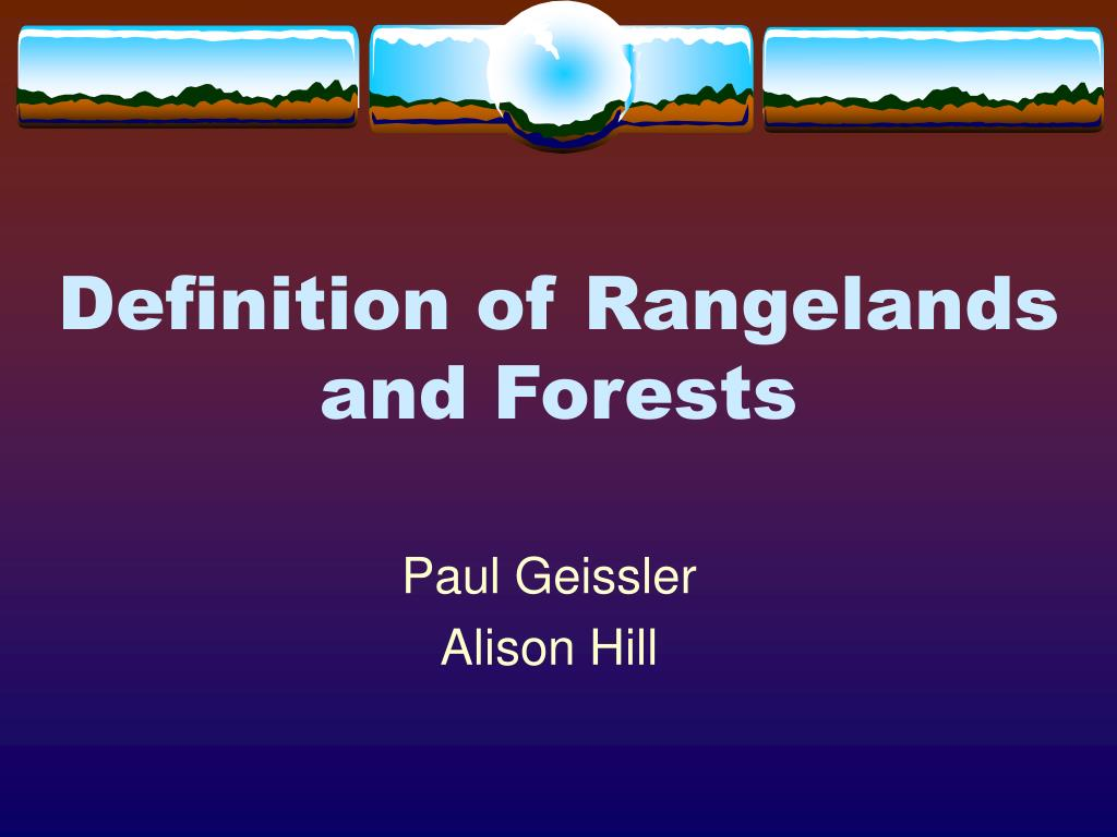 Definition of Rangelands
