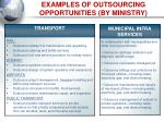 examples of outsourcing opportunities by ministry10
