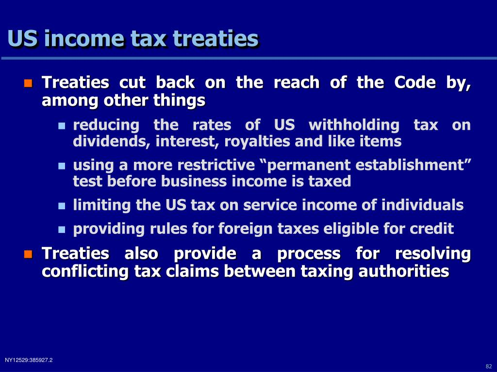 US income tax treaties