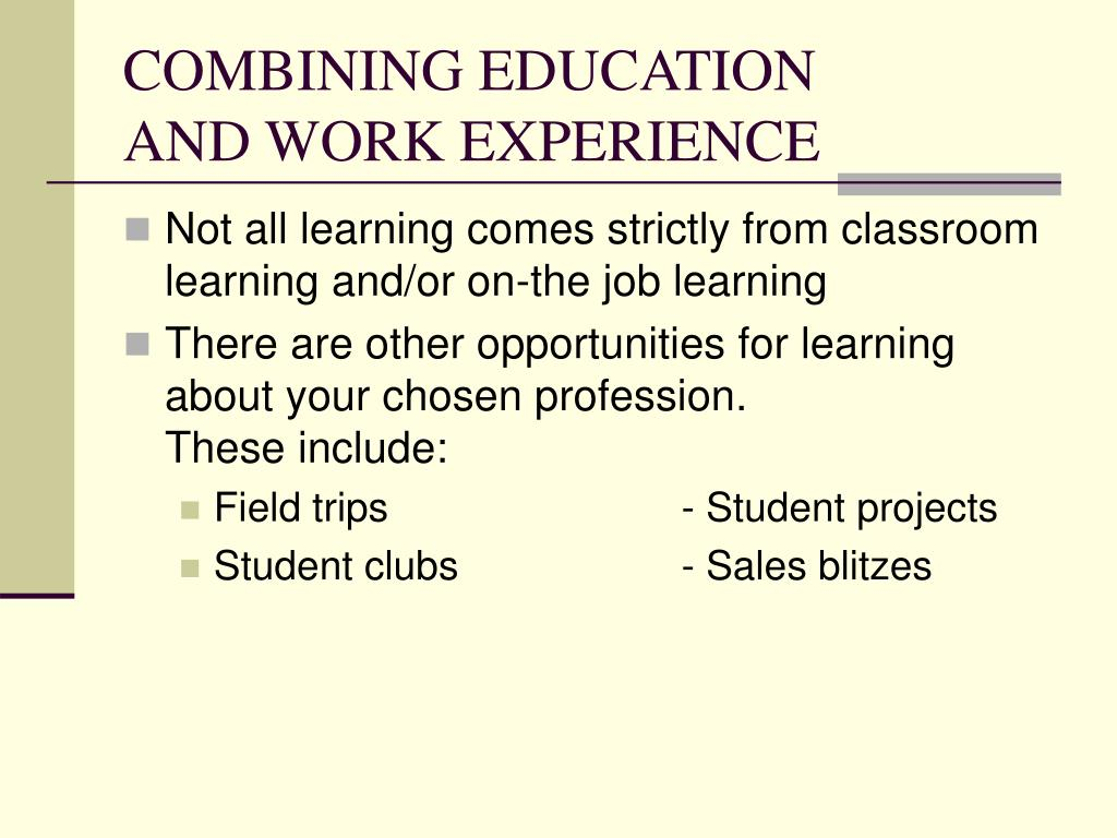 work learning experience Get the the learning experience employment application form online job- applicationscom is the place to find employment forms and job applications to  help.