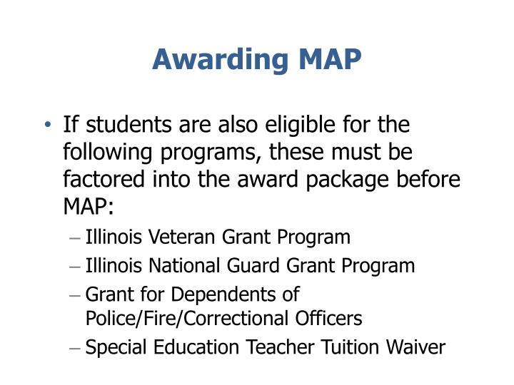 Awarding MAP