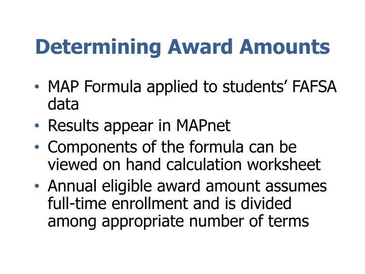 Determining Award Amounts