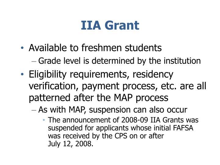 IIA Grant