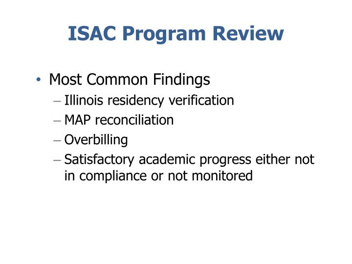 ISAC Program Review