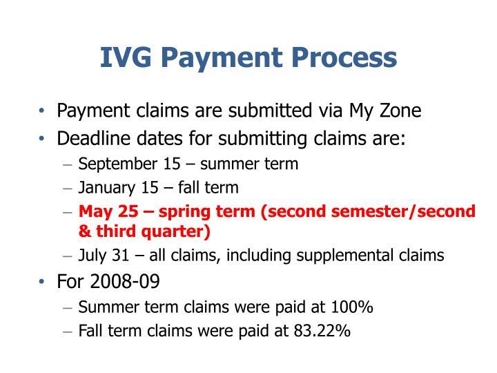 IVG Payment Process
