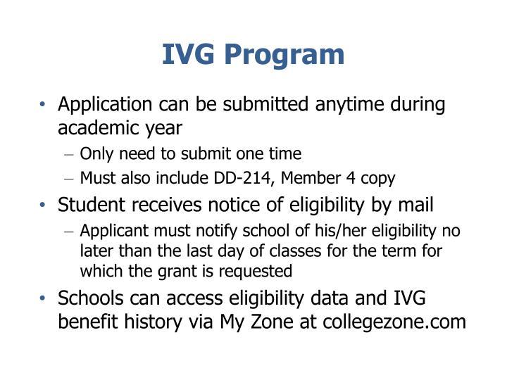 IVG Program