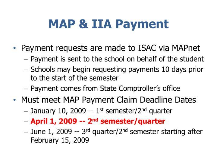 MAP & IIA Payment