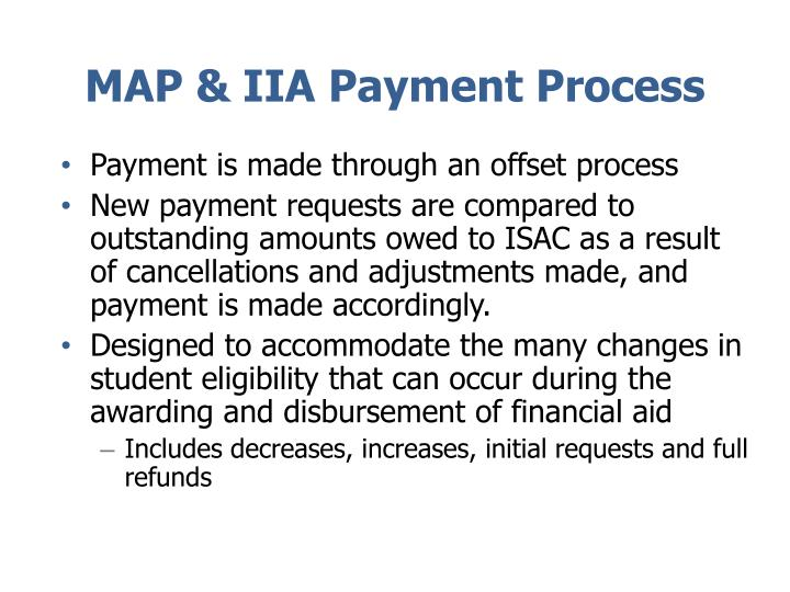 MAP & IIA Payment Process