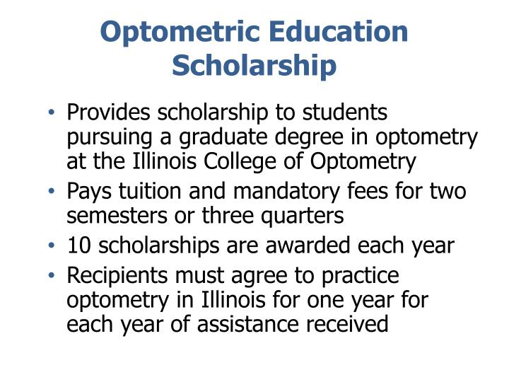 Optometric Education Scholarship