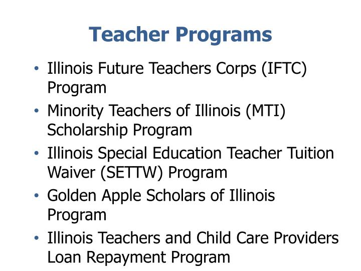 Teacher Programs