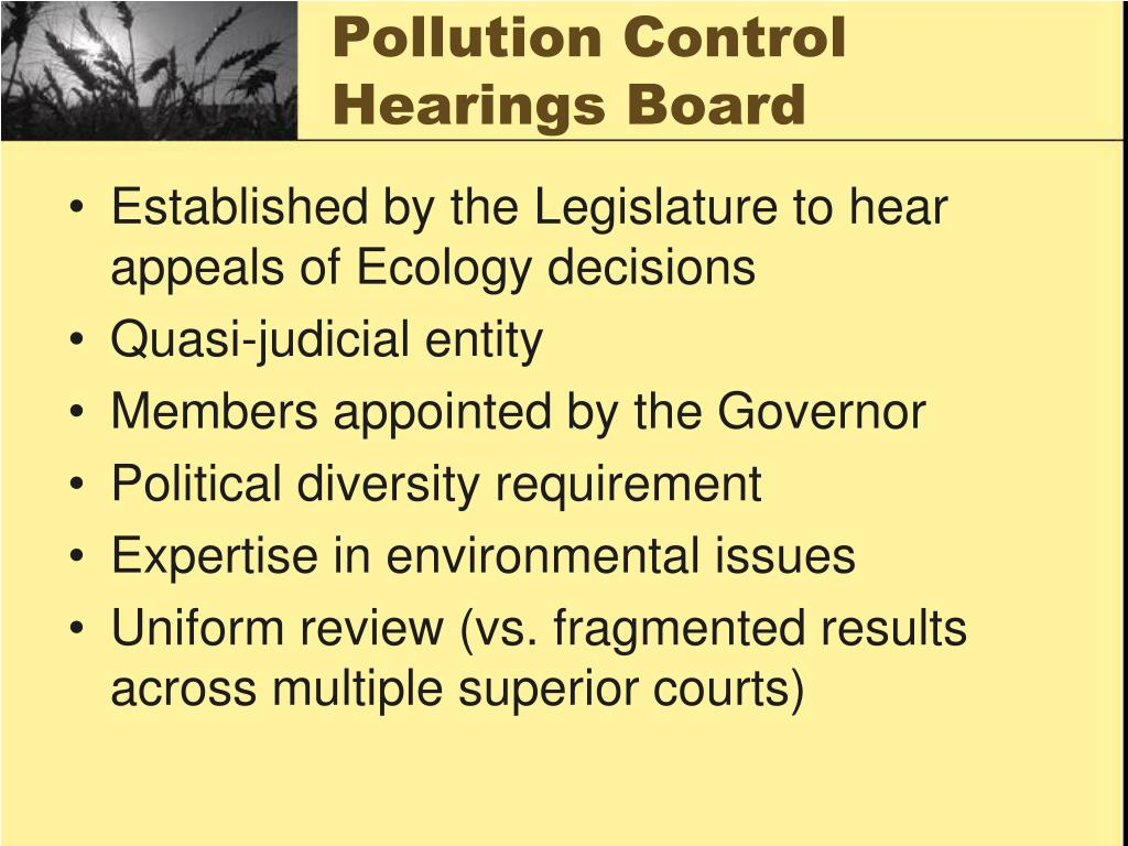 Pollution Control Hearings Board
