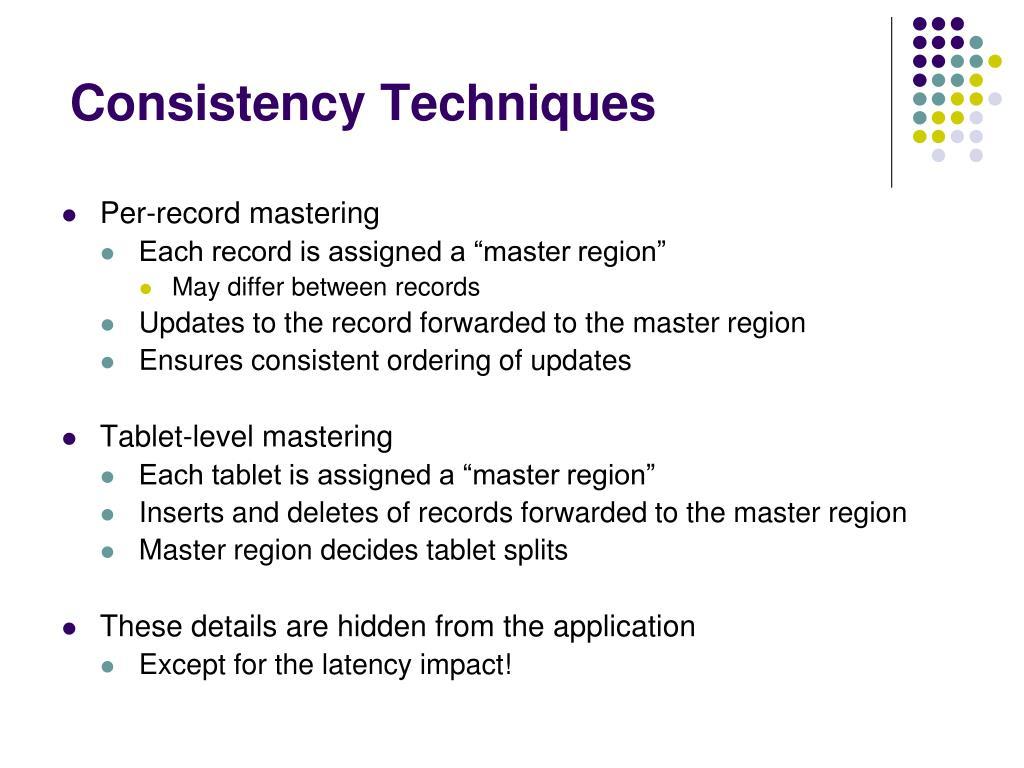 Consistency Techniques