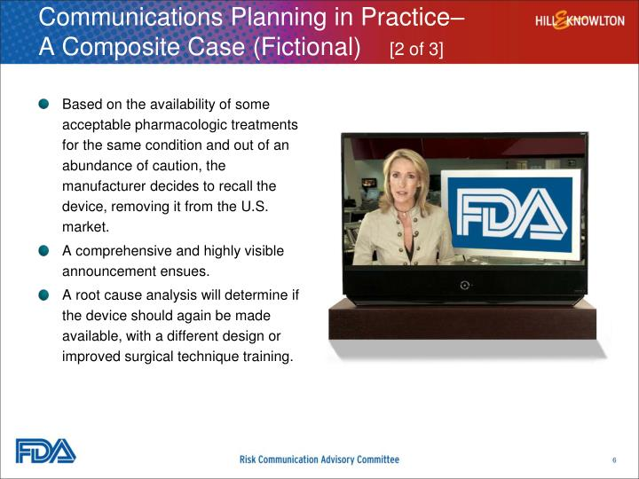Communications Planning in Practice–