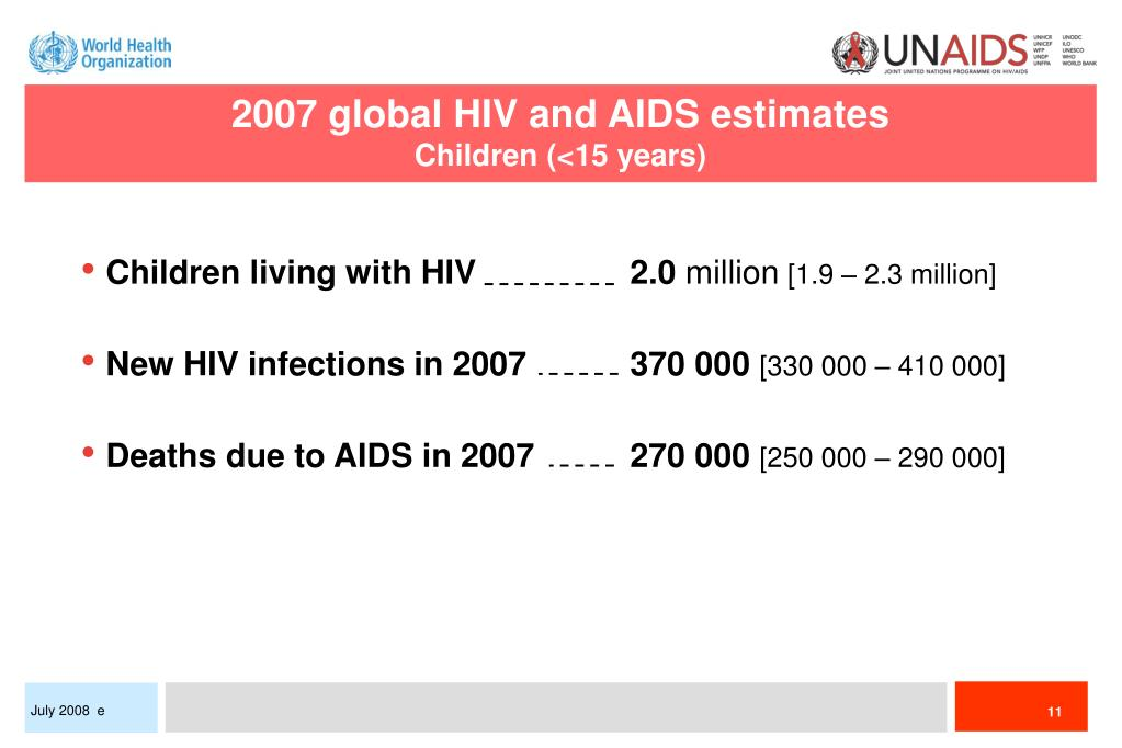 2007 global HIV and AIDS estimates