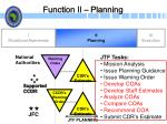 function ii planning