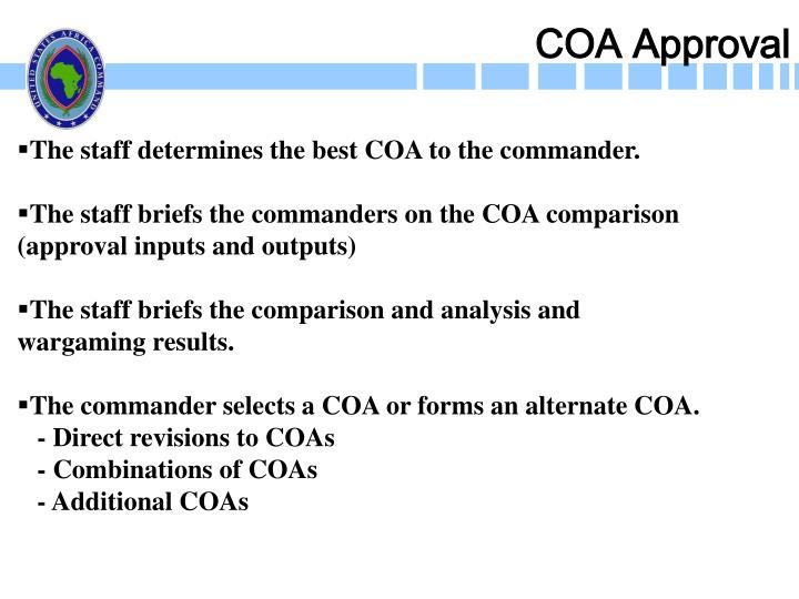 COA Approval