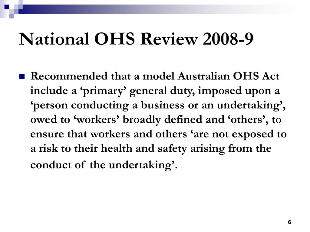 National OHS Review 2008-9