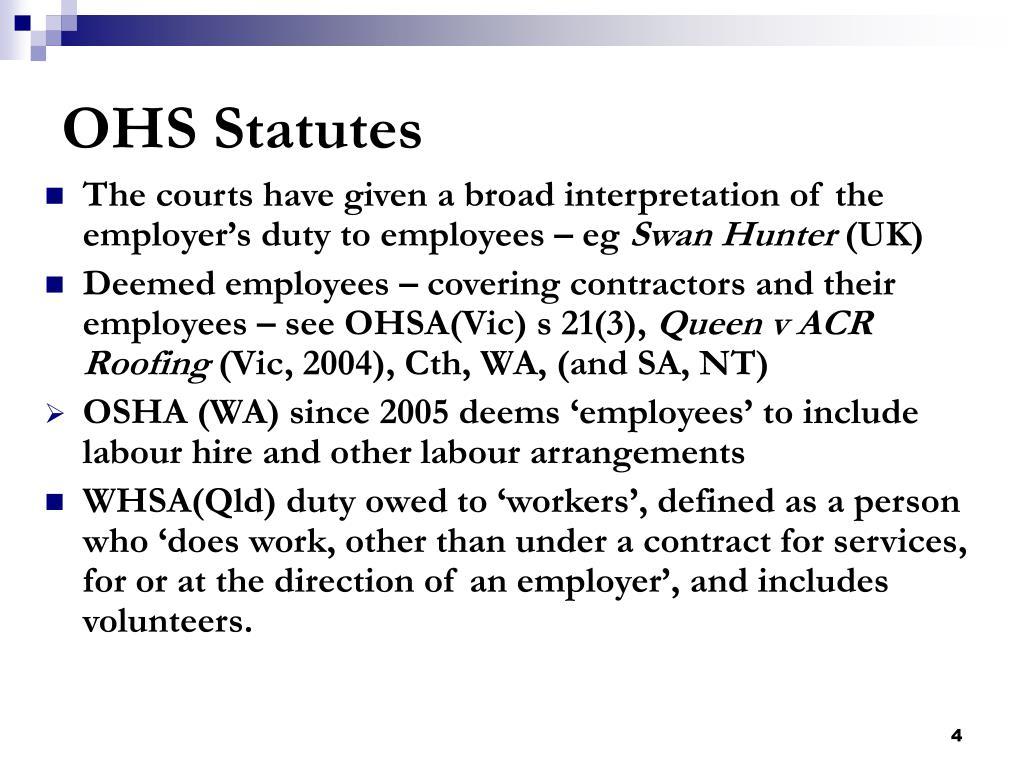 OHS Statutes