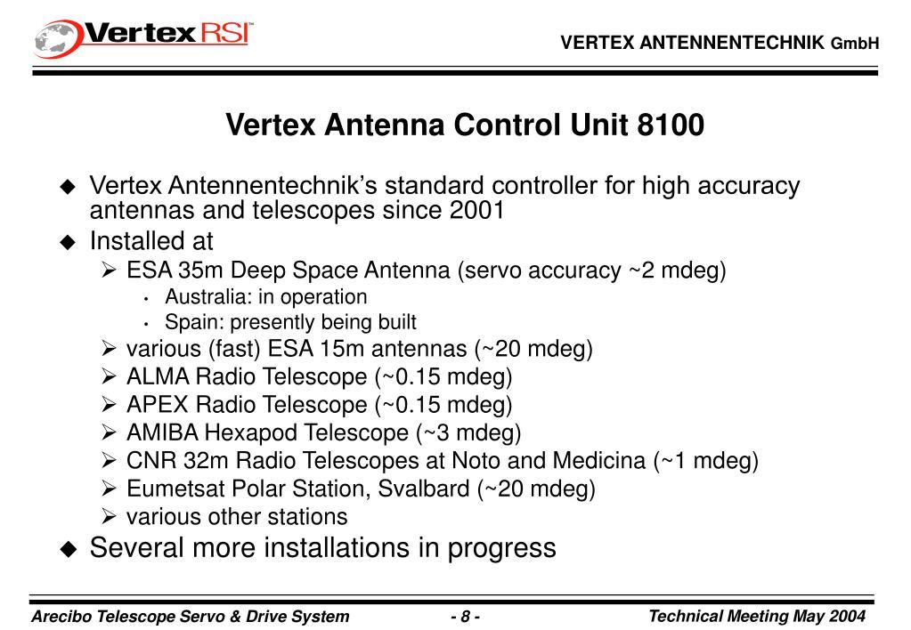 Vertex Antennentechnik's standard controller for high accuracy antennas and telescopes since 2001